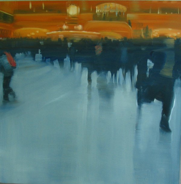 NYC Grand Central Station, The Blue Crowd