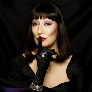 Anjelica Huston Black Gloves