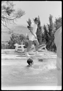 Albert And Audrey By The Pool 4