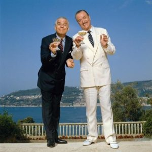 Steve Martin and Michael Caine Black White And Sky