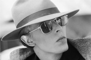 David Bowie Fedora And Glasses