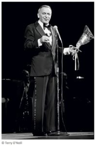 Frank Sinatra Stage And Flowers 2