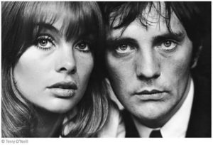 Jean Shrimpton and Terrence Stamp