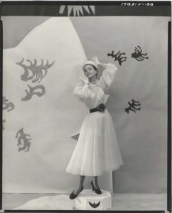 Traina-Norell Dinner Dress and Hat, Vogue
