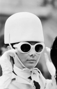 Audrey Hepburn White Hat And Glasses 1