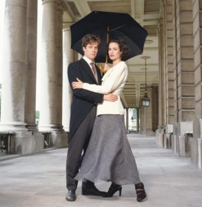 Hugh Grant and Andie MacDowell Umbrella
