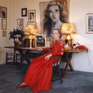 Bette Davis Long Red Dress