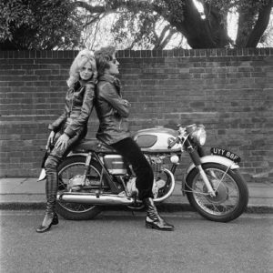 Britt Ekland And Patrick Lichfield: Motorcycle