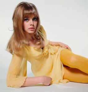 Britt Ekland Yellow Dress 2