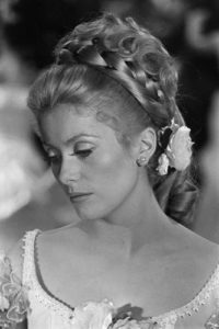 Catherine Deneuve Flowers In Hair