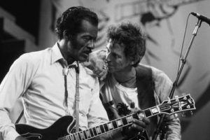 Chuck Berry On Stage With Keith Richards