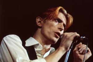 David Bowie Mic And Black
