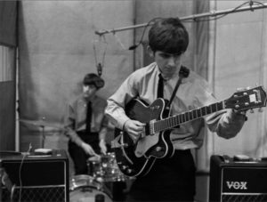 George Harrison And Ringo Starr Guitar Session
