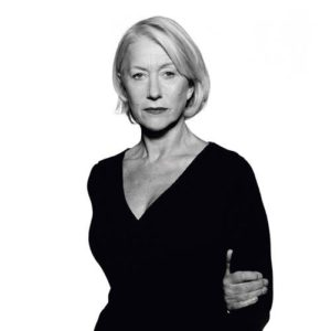 Helen Mirren Dark Sweater