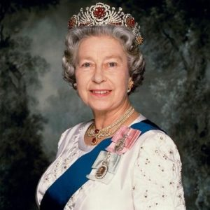 Queen Elisabeth II Sash And Crown