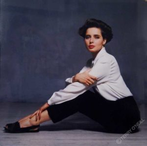 Isabella Rossellini in White