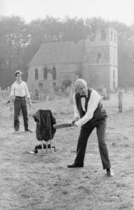 Laurence Olivier Plays Cricket