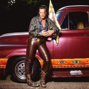 Mickey Rourke Leather Pants And Truck