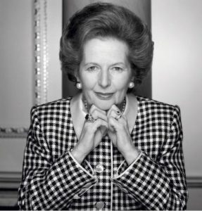 Margaret Thatcher Checkered Stare