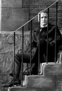 Paul Newman on Staircase