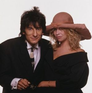 Ron Wood With His Wife Jo
