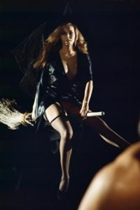 Raquel Welch on a Broomstick