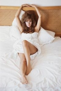 Raquel Welch Reclined in White 2