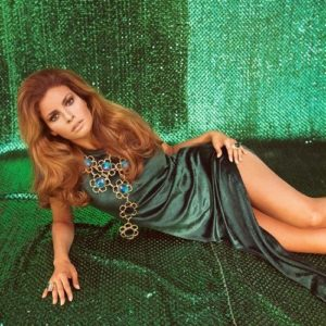 Raquel Welch Green On Green