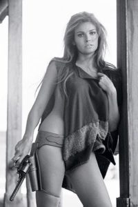 Raquel Welch Purple Poncho 2