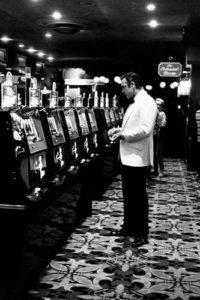 Sean Connery as Bond (at casino)