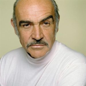 Sean Connery Green And White