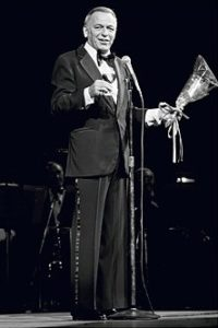 Frank Sinatra Stage And Flowers