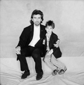George Harrison With His Son Dhani