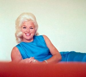 Diana Dors Bright Blue