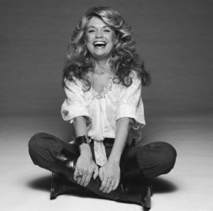 Dyan Cannon Cross Legged