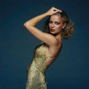 Cheryl Ladd Gold Dress