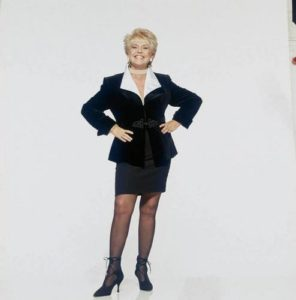 Gloria Hunniford Black Skirt Suit
