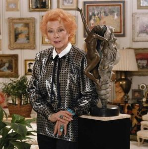 Greer Garson Next To Sculpture