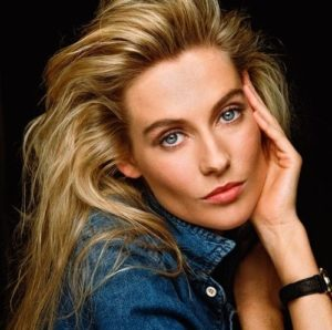 Alison Doody Blue Shirt Blue Eyes