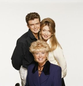 Gloria Hunniford With Daughter Caron And Son Michael