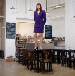 Janet Street Porter On A Table
