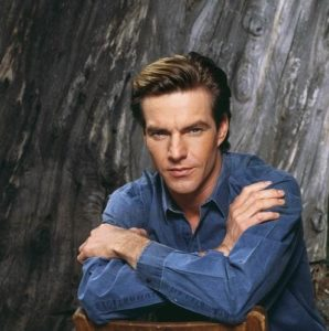 Dennis Quaid in Blue and Gray