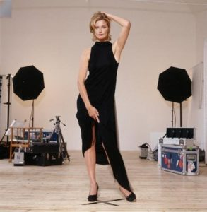 Joely Richardson Long Black Dress