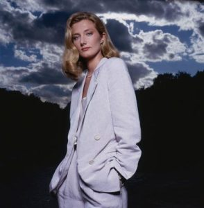 Joely Richardson White Suit Dark Sky