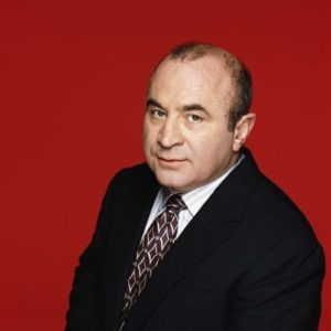 Bob Hoskins with Red Background