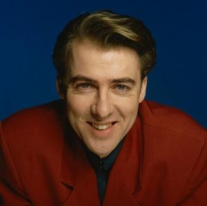 Jonathan Ross Red On Blue