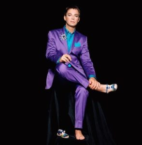 Julian Clary Purple Suit