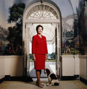 Laura Bush Red Suit