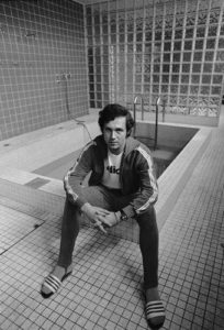 Franz Beckenbauer by the Pool