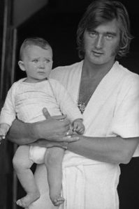 Alan Hudson with Baby